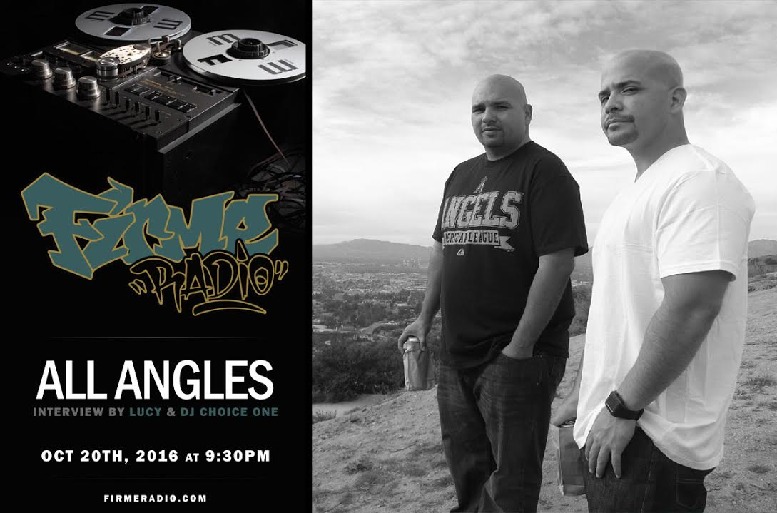 Re-Broadcast of Firme Radio with guest artist All Angles
