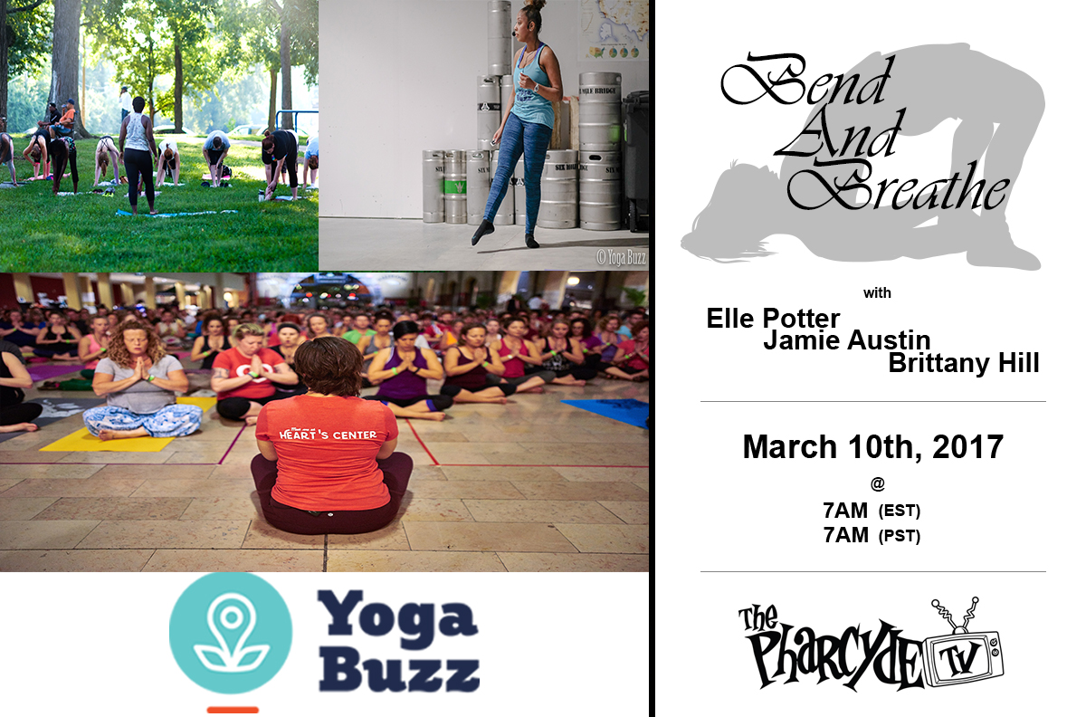 Free Yoga with Elle Potter x Jamie Austin x Brittany Hill from YogaBuzz.org
