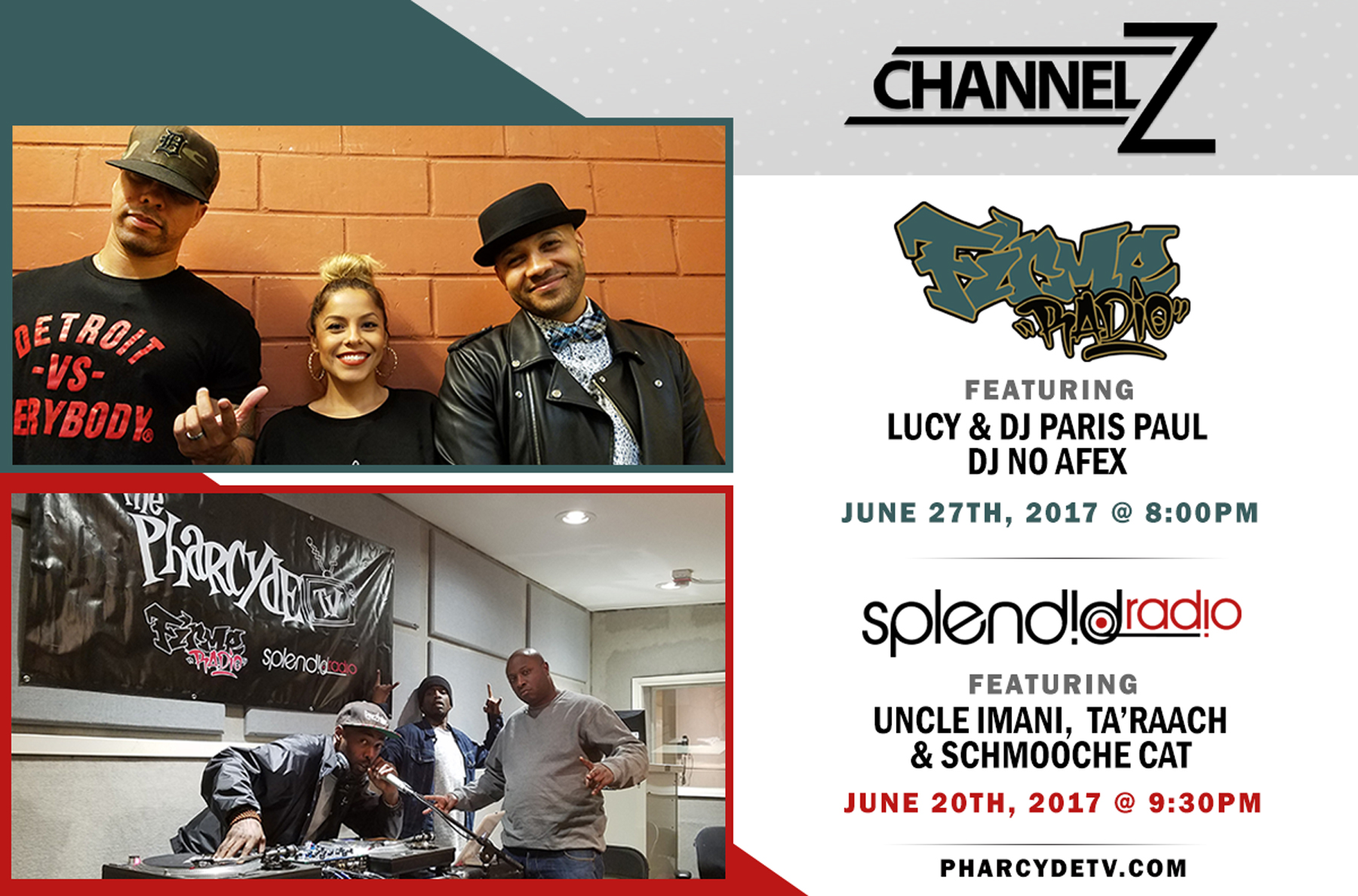 Re broadcast Firme Radio EP 33 w/ Lucy, Paris Paul and DJ NoAfex…. Splendid Radio ep 34 w/ Schmooche Cat UncleImani and Ta'Raach
